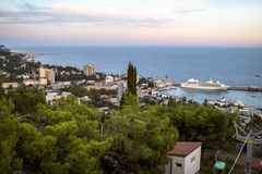 View of the sea coast of Yalta Royalty Free Stock Photos