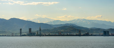 View from  sea in the coastal town  Batumi Stock Image