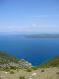 View of the sea of Cres Stock Photo