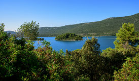 View of the sea in Croatia Stock Photography