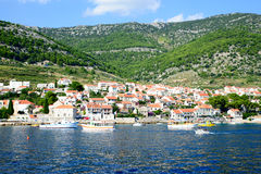View of the sea in Croatia Stock Image