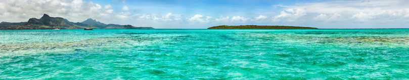 View of a sea at day time. Mauritius. Panorama Stock Photos