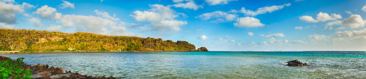 View of a sea at day time. Mauritius. Panorama Stock Images