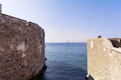 View on the sea from fortress Stock Image