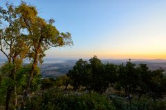 View of the sea of Galilee Kineret lake from mountain. Northen Israel Royalty Free Stock Image
