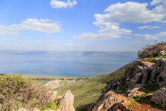 A view of the Sea of Galilee from Mount Arbel Stock Photos