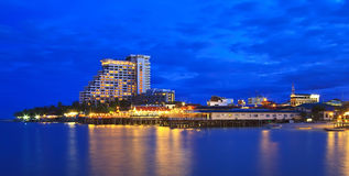 View sea Huahin city point Stock Photos