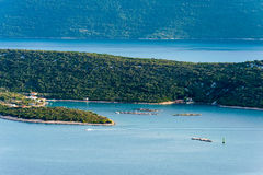 The view of the sea and islands in southern Croatia Stock Image