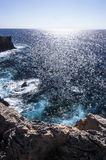 View on the sea and its abyss from the rock. Stock Images