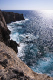 View on the sea and its abyss in Sardinia, Italy. Stock Photo