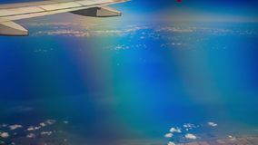 View Sea Land under Airliner Wing stock video
