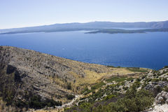 View of the sea and landscape - Croatia (Brac) Stock Photos
