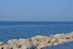 View of the sea level, Grado. Italy royalty free stock photography
