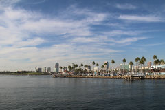 View from the sea at Long Beach, Long Beach, California. Stock Image