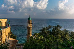View of the Sea Mosque in the old town of Jaffa Royalty Free Stock Photo