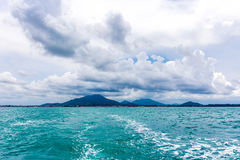 View of sea and mountains from ferry Samed island , Thailand Stock Photos