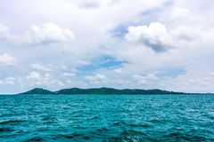 View of sea and mountains from ferry Samed island , Thailand Stock Image