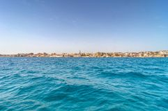 View from the sea in ortigia, siracusa, sicily Royalty Free Stock Photos