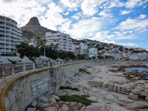 Sea Point promenade, South Africa stock image