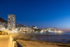 View of Sea Point Promenade at sunset Royalty Free Stock Images