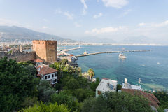 View of sea port of Alanya Royalty Free Stock Photo