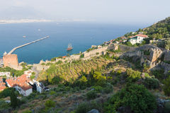 View of sea port of Alanya Royalty Free Stock Photography