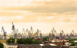 View of the sea port of St. Petersburg Royalty Free Stock Photo