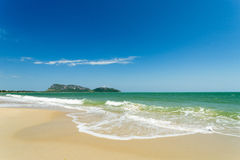 A view of the sea from prachuap sea Stock Images