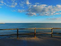 View of the sea from the promenade royalty free stock photo
