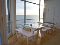 A view of the sea. Restaurant with an ocean view royalty free stock photography