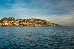 View from the sea of Roses on the Costa Brava Stock Photos