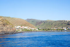 View from the sea on San Sebastian in la Gomera Royalty Free Stock Image
