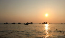 View of the sea at sunset in Phu Quoc, Vietnam Stock Photography