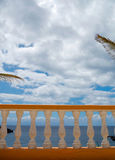 View of the sea from terrace Stock Image