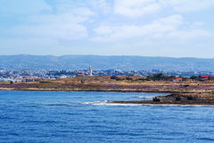 View from the sea to Archaeological park Stock Photos