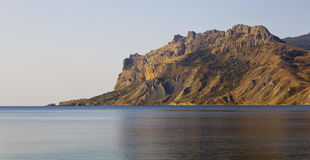 View from the sea to the mountains of Kara-Dag Stock Photography