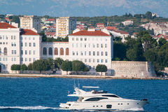 View from the sea to the old city Zadar. Stock Image