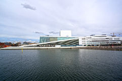 View from the sea to the Oslo Opera House. Norway. May 08, 2013 Stock Photos