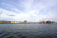 View from the sea to Oslo and the Oslo Fjord. Norway. May 08, 2013 Stock Images
