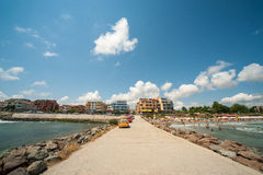 View from the sea to Ravda, Bulgaria Stock Images