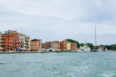 View from the sea to Venice, Italy, summer day. Stock Image
