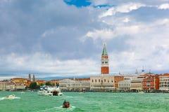 View from the sea to Venice lagoon, Italia Royalty Free Stock Photo