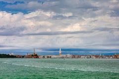 View from the sea to Venice lagoon, Italia Stock Image