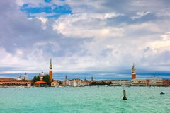 View from the sea to Venice lagoon, Italia Royalty Free Stock Image
