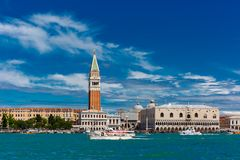 View from the sea to Venice in summer day, Italia Stock Image