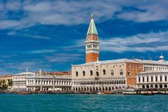 View from the sea to Venice in summer day, Italia Royalty Free Stock Image