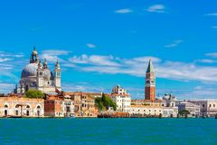 View from the sea to Venice in summer day, Italia Stock Photography