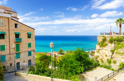 View on the sea in Tropea, Calabria, Italy Stock Photos