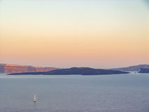 View of the sea and Volcano Caldera in Santorini Stock Images