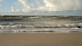 View of the sea, waves stock video footage